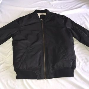 Women's size small fur bomber jacket
